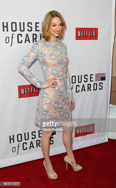 Actress Kristen Connolly attends Netflix's House Of Cards For Your Consideration QA Event at Leonard H Goldenson Theatre on April 25 2013 in North...