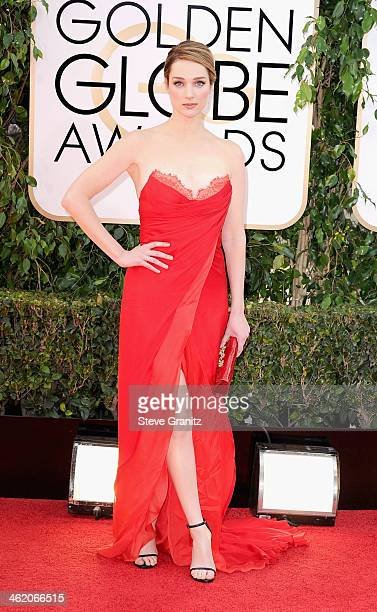 Actress Kristen Connolly attends the 71st Annual Golden Globe Awards held at The Beverly Hilton Hotel on January 12 2014 in Beverly Hills California