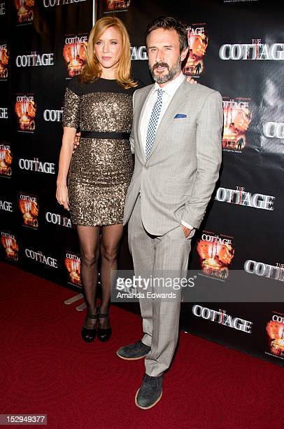 Actress Kristen Dalton and actor David Arquette arrive at the Los Angeles Premiere of The Cottage at the Academy of Motion Picture Arts and Sciences...