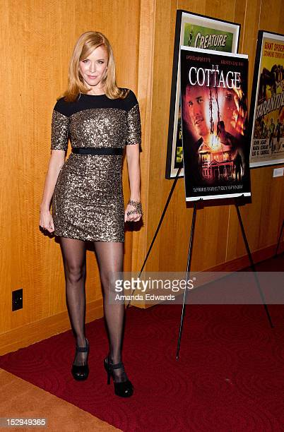 Actress Kristen Dalton arrives at the Los Angeles Premiere of The Cottage at the Academy of Motion Picture Arts and Sciences on September 28 2012 in...