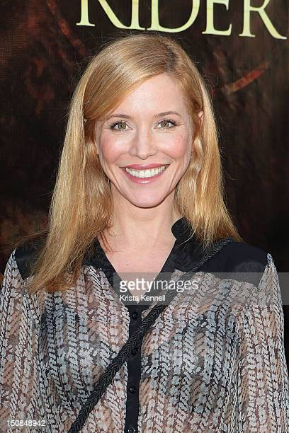 Actress Kristen Dalton arrives to the world grand unveiling of Leonardo da Vinci's sculpture Horse and Rider at Greystone Mansion on August 27 2012...