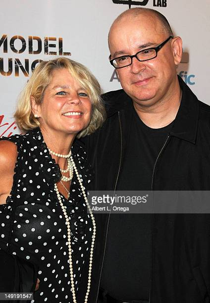 """Actress Kristen DeBell and director David DeCoteau arrive for the premiere of """"Among Friends"""" during the 2012 Viscera Film Festival at The Egyptian..."""