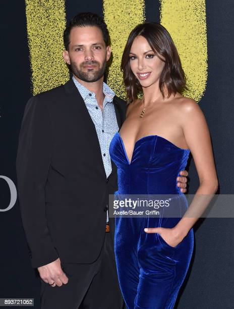 Actress Kristen Doute and Brian Carter arrive at the premiere of Universal Pictures' 'Pitch Perfect 3' at Dolby Theatre on December 12 2017 in...