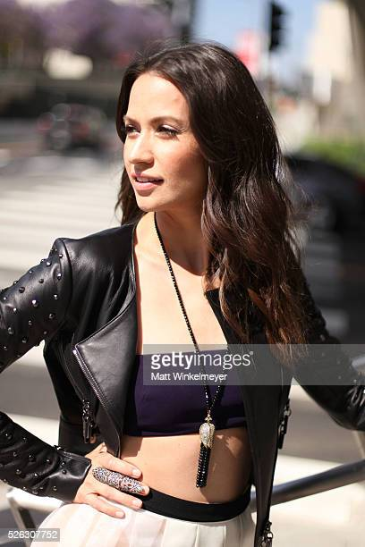 Actress Kristen Gutoskie poses during a photo shoot for LaPalme Magazine on April 29 2016 in Los Angeles California