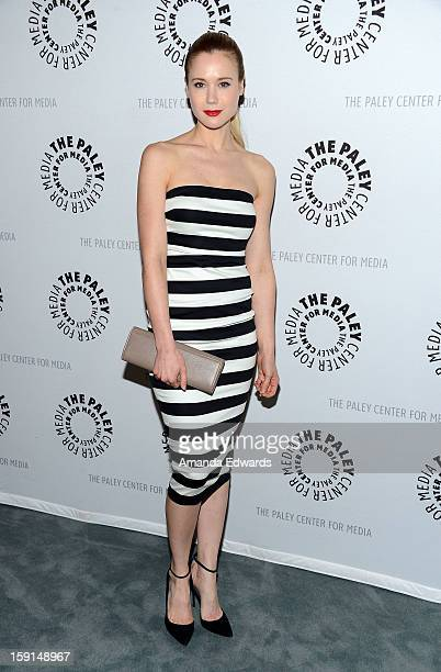 96755d4c9f2 Actress Kristen Hager arrives at The Paley Center for Media presents an  evening with Syfy s