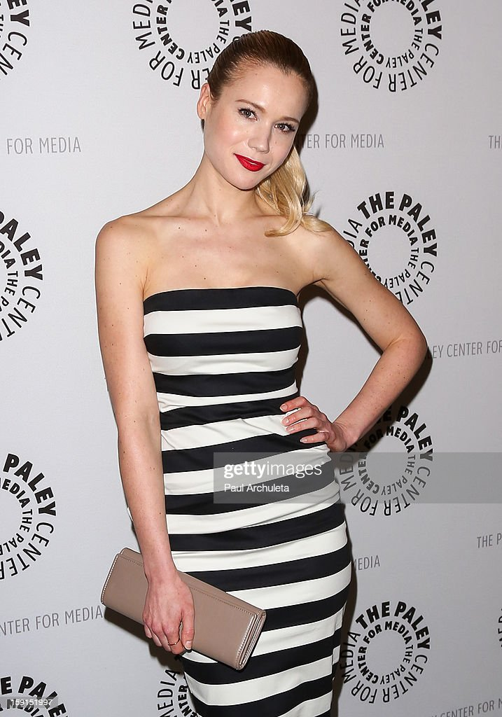 Actress Kristen Hager attends the premiere screening and panel discussion of Syfy's 'Being Human' season 3 at The Paley Center for Media on January 8, 2013 in Beverly Hills, California.
