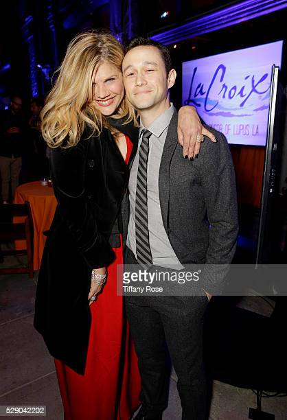 Actress Kristen Johnston and actor Joseph GordonLevitt attend Lupus LA's Orange Ball A Night Of Superheroes at FOX Studios on May 7 2016 in Los...
