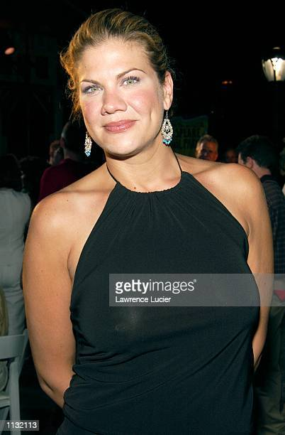 Actress Kristen Johnston arrives at the postperformance reception for the 2002 Joseph Papp Public Theater/New York Shakespeare Festival Benefit at...