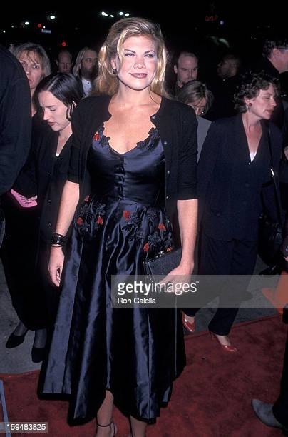 Actress Kristen Johnston attends the 'Pleasantville' Westwood Premiere on October 19 1998 at the Mann National Theatre in Westwood California