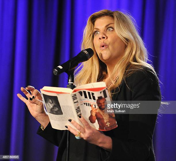 Actress Kristen Johnston during Celebrity Autobiography The Music Edition Volume 4 at The GRAMMY Museum on April 16 2014 in Los Angeles California