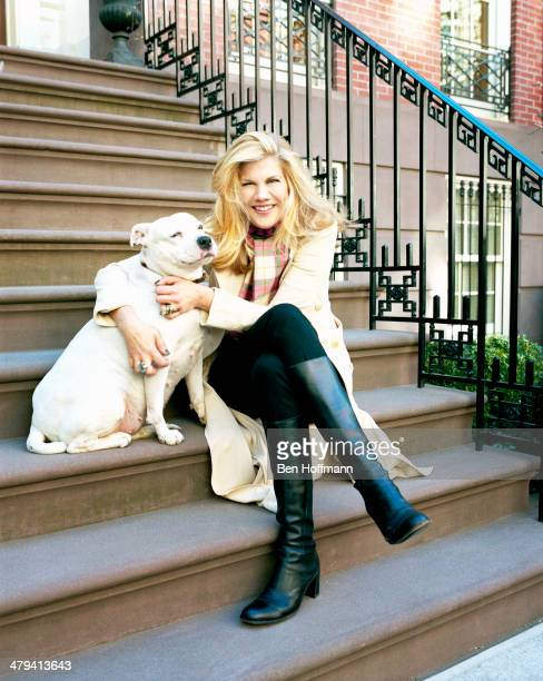 Actress Kristen Johnston is photographed with dog Pinkie for People Magazine on February 23 2012 in New York City PUBLISHED IMAGE