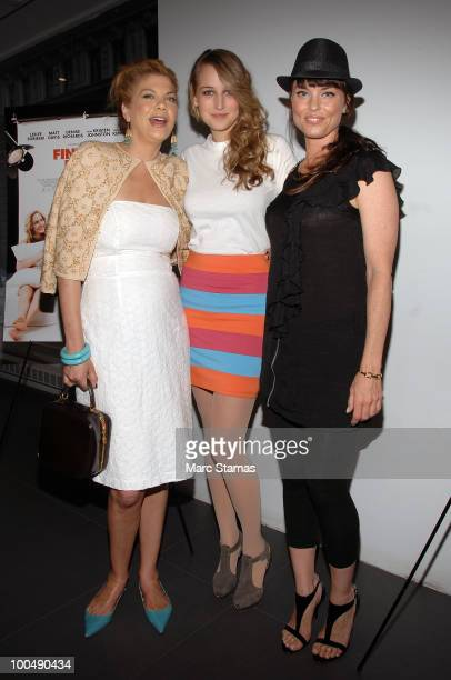 Actress Kristen Johnston Model/Actress Leelee Sobieski and Actress Donnamarie Recco attend a screening of Finding Bliss at the Museum of Sex on May...
