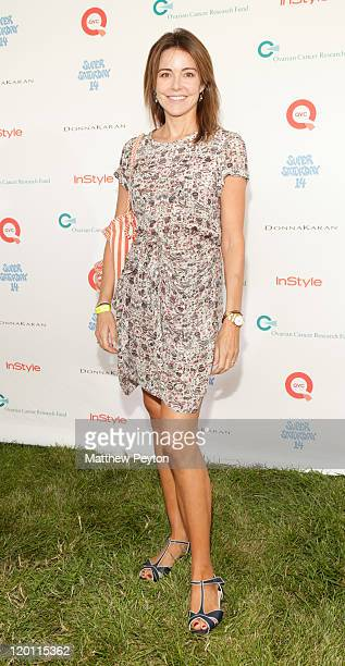 Actress Kristen Miller poses at QVC Presents Super Saturday Live at Nova's Art Project on July 30 2011 in Water Mill New York