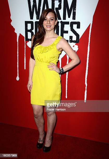 Actress Kristen Quintrall arrives at the premiere of Summit Entertainment's Warm Bodies at ArcLight Cinemas Cinerama Dome on January 29 2013 in...