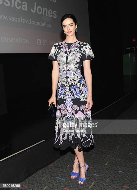 Actress Kristen Ritter attends SAGAFTRA In Conversation With 'Jessica Jones' on May 17 2016 in New York City