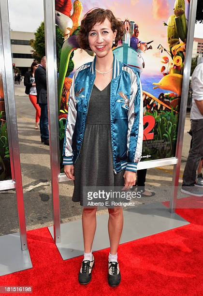 Actress Kristen Schaal arrives to the premiere of Columbia Pictures and Sony Pictures Animation's Cloudy With A Chance of Meatballs 2 at the Regency...