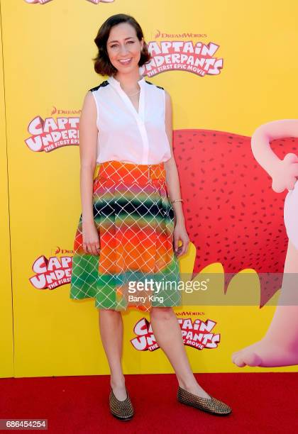 Actress Kristen Schaal attends premiere of DreamWorks Animation and 20th Century Fox's 'Captain Underpants' at Regency Village Theatre on May 21 2017...