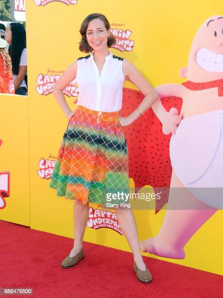 Actress Kristen Schaal attends the premiere of DreamWorks Animation and 20th Century Fox's 'Captain Underpants' at Regency Village Theatre on May 21...