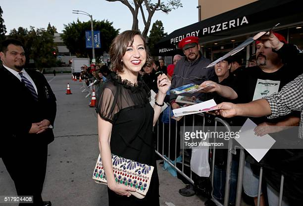 """Actress Kristen Schaal attends the premiere of USA Pictures' """"The Boss"""" at Regency Village Theatre on March 28, 2016 in Westwood, California."""