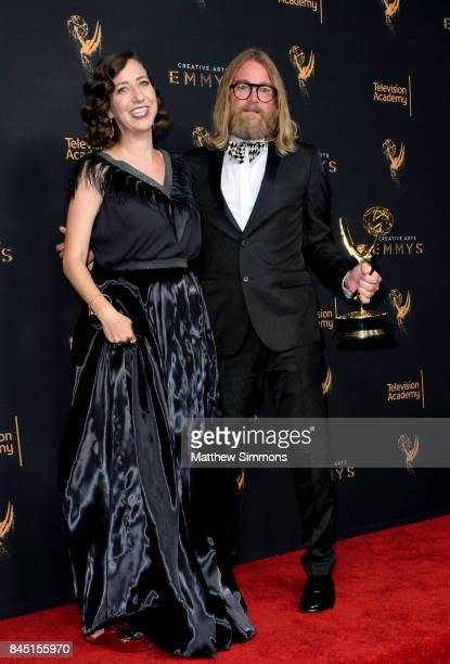 Actress Kristen Schaal poses in the pressroom during the 2017 Creative Arts Emmy Awards at Microsoft Theater on September 9 2017 in Los Angeles...