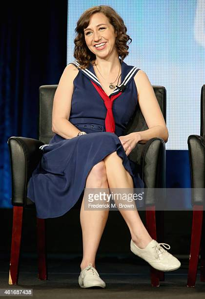 Actress Kristen Schaal speaks onstage during the 'Last Man on Earth' panel discussion at the FOX portion of the 2015 Winter TCA Tour at the Langham...