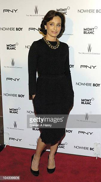 Actress Kristen Scott Thomas attends the Nowhere Boy premiere at the Tribeca Performing Arts Center on September 21 2010 in New York City