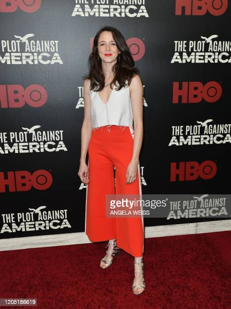 US actress Kristen Sieh attends HBO's The Plot Against America premiere at Florence Gould Hall on March 4 2020 in New York City