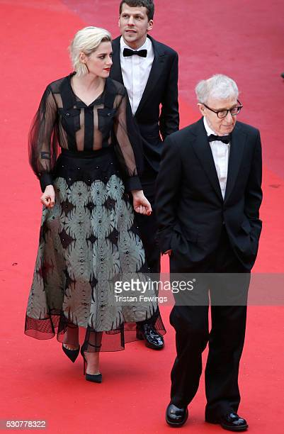 Actress Kristen Stewart actor Jesse Eisenberg and director Woody Allen attend the 'Cafe Society' premiere and the Opening Night Gala during the 69th...