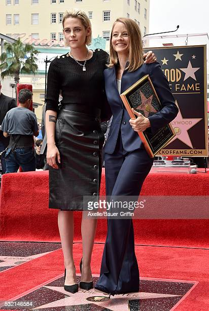Actress Kristen Stewart and actress/director Jodie Foster attend the ceremony honoring Jodie Foster with a Star on the Hollywood Walk of Fame on May...
