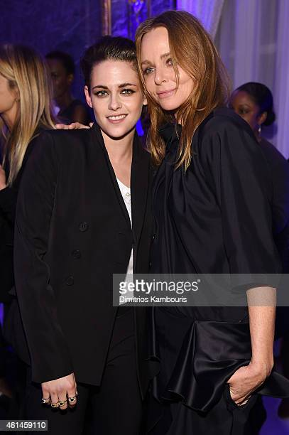 Actress Kristen Stewart and fashion designer Stella McCartney attend the Stella McCartney Autumn 2015 presentation on January 12 2015 in New York City