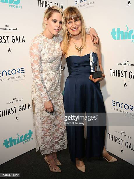 Actress Kristen Stewart and Governor's Award recipient Catherine Hardwicke attend the 7th Annual Thirst Gala at The Beverly Hilton Hotel on June 13...