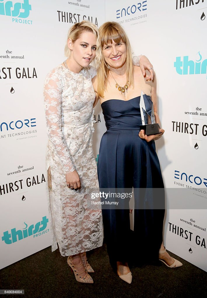 Actress Kristen Stewart (L) and Governor's Award recipient Catherine Hardwicke attend the 7th Annual Thirst Gala at The Beverly Hilton Hotel on June 13, 2016 in Beverly Hills, California