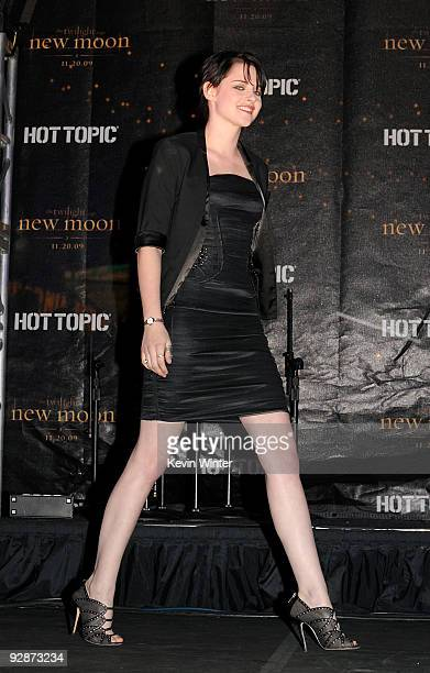 Actress Kristen Stewart appears onstage at Summit's The Twilight Saga New Moon Cast Tour at Hollywood and Highland on November 6 2009 in Los Angeles...