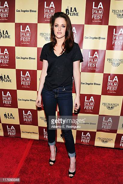 Actress Kristen Stewart arrives at 'A Better Life' World Premiere Gala Screening during the 2011 Los Angeles Film Festival at Regal Cinemas LA LIVE...