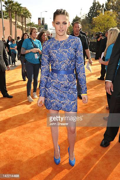 Actress Kristen Stewart arrives at Nickelodeon's 25th Annual Kids' Choice Awards held at Galen Center on March 31 2012 in Los Angeles California