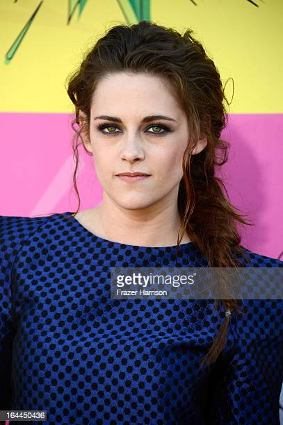 Actress Kristen Stewart arrives at Nickelodeon's 26th Annual Kids' Choice Awards at USC Galen Center on March 23 2013 in Los Angeles California