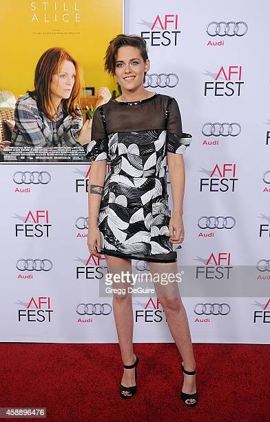 Actress Kristen Stewart arrives at the AFI FEST 2014 Presented By Audi 'Still Alice' Premiere at Dolby Theatre on November 12 2014 in Hollywood...