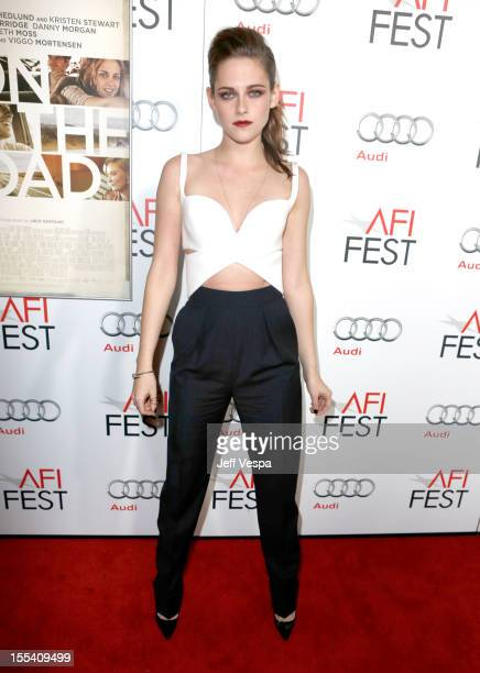 Actress Kristen Stewart arrives at the gala screening of On The Road during the 2012 AFI Fest at Grauman's Chinese Theatre on November 3 2012 in...