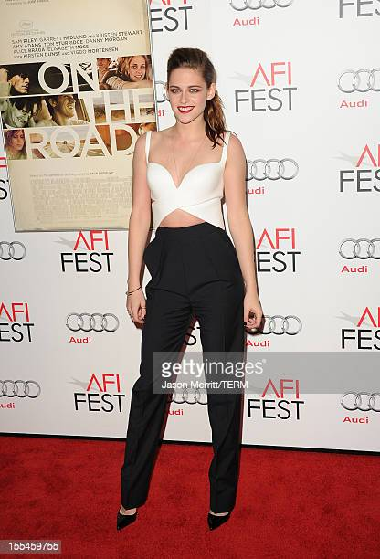 b32156ff7d4b2 Actress Kristen Stewart arrives at the 'On The Road' premiere during the  2012 AFI