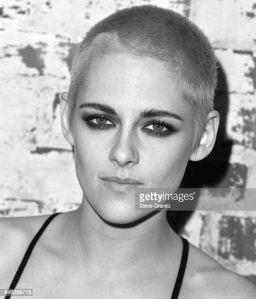 Image converted from color to Black and White Actress Kristen Stewart arrives at the Premiere Of IFC Films' Personal Shopper at The Carondelet House...