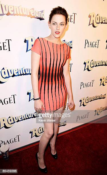 Actress Kristen Stewart arrives at the premiere of Miramax Films' 'Adventureland' at the Chinese 6 Theaters on March 16 2009 in Los Angeles California