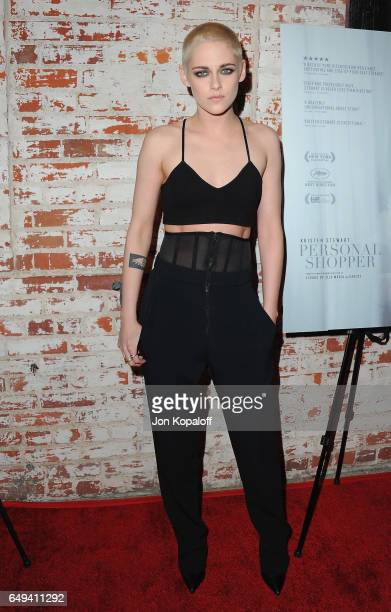 Actress Kristen Stewart arrives at XXX at the Flux and Cinefamily Hosted Premiere of IFC Films' PERSONAL SHOPPER at The Carondelet House on March 7...