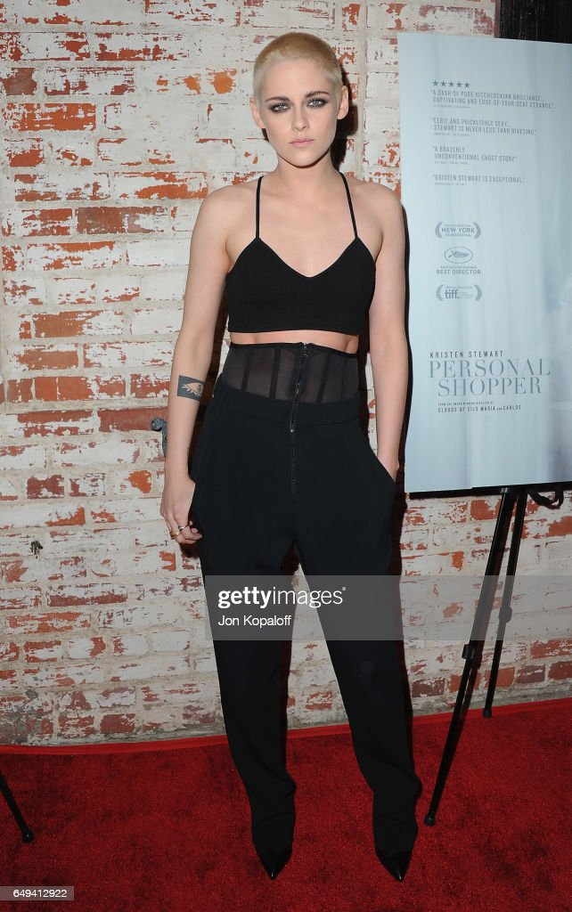 Actress Kristen Stewart arrives at XXX at the Flux and Cinefamily Hosted Premiere of IFC Films' PERSONAL SHOPPER at The Carondelet House on March 7, 2017 in Los Angeles, California.