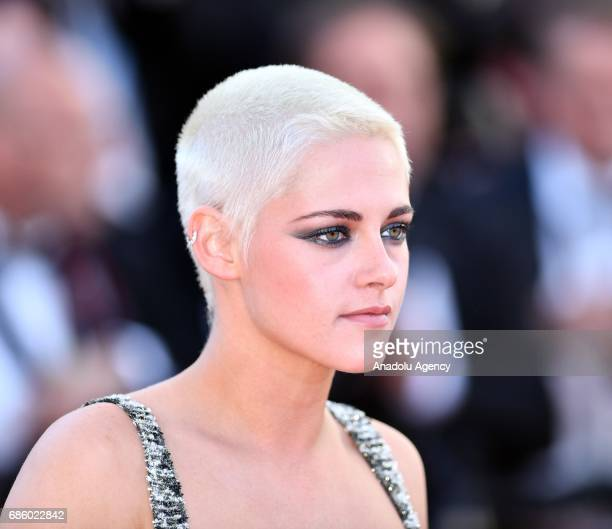 US actress Kristen Stewart arrives for the film '120 Battements par Minute' in competition at the 70th annual Cannes Film Festival in Cannes France...