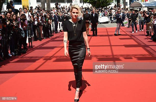US actress Kristen Stewart arrives on May 15 2016 for the screening of the film 'American Honey' at the 69th Cannes Film Festival in Cannes southern...