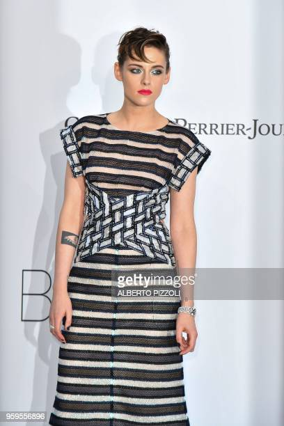 US actress Kristen Stewart arrives on May 17 2018 for the amfAR 25th Annual Cinema Against AIDS gala at the Hotel du CapEdenRoc in Cap d'Antibes...