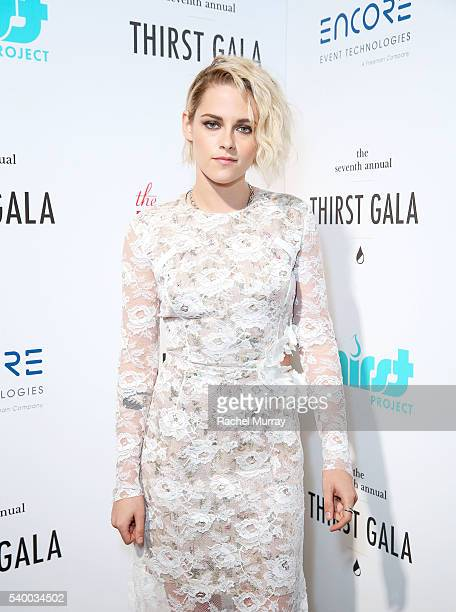 Actress Kristen Stewart arrives to present the Governor's Award to recipient Catherine Hardwicke during the 7th Annual Thirst Gala at The Beverly...