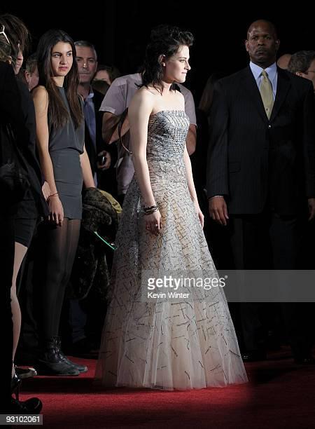 Actress Kristen Stewart arrives to the premiere of Summit Entertainment's The Twilight Saga New Moon at the Mann Village Theater on November 16 2009...