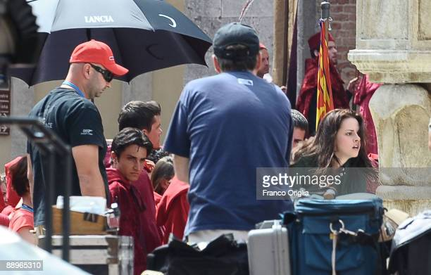 Actress Kristen Stewart as Bella Swan during the filming of 'Twilght' sequel 'New Moon' on May 25 2009 in Montepulciano Italy