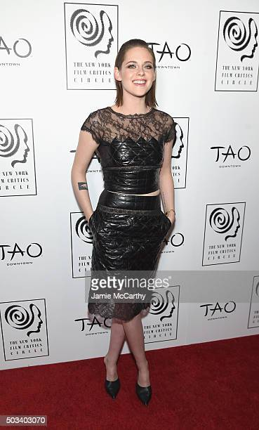 Actress Kristen Stewart attends 2015 New York Film Critics Circle Awards at TAO Downtown on January 4 2016 in New York City